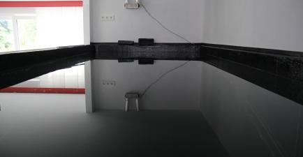 gefülltes Becken von oben