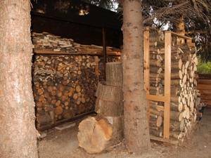ordentlich Holz hinter der Hütte