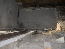 Dachboden ohne Bodenbretter