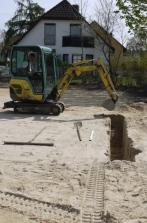 Beginn der Ausgrabungen