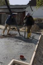 Gießen der Bodenplatte - Ende
