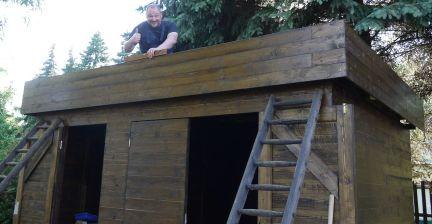 Tim auf dem Dach