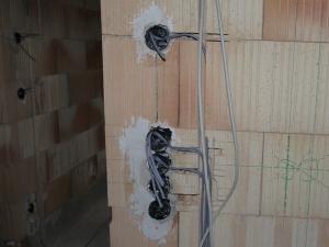 Schaltervorbereitung im Bad