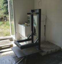 Aufbau des verkleinerten Kaminmonsterträgers