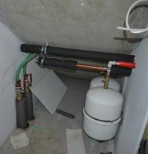 Verbindung Soleleitungen mit Wärmepumpe