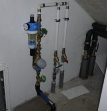 Wasseruhr und Hausanschlussfilter