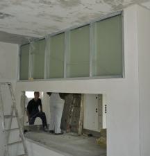 Trockenbau erste Schicht - Ständerwerk und Innenbeplankung