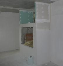 Trockenbauverkleidung Arbeitszimmer - Seitenteile