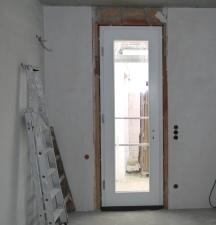 zweite Haustür im Arbeitszimmer