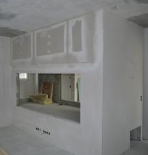 Verkleidung Wohnzimmerseite fertig