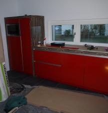 linker Teil der Küchenmöbel