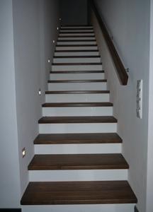 Treppe ausgepackt