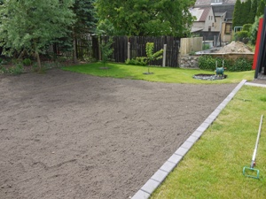 schöner glatter Gartenboden