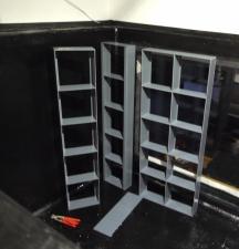 Rahmen für Filtermatten im Aquarium stehend